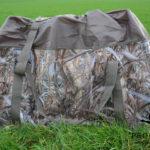 12-slot decoy bag for crow decoys, pigeon decoys and duck decoys.