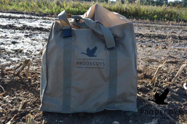 6 slot goose decoy bag with closed top for full body goose decoys