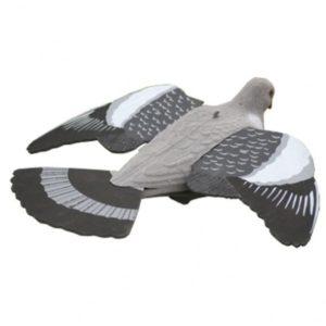 Vliegende lokduif duivenlokker met vleugels